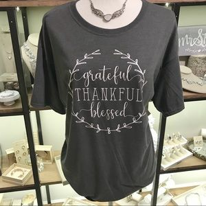 Tops - Grateful Thankful Blessed t-shirt